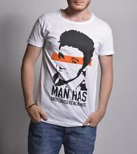 HOMEMADE FABRIC t-shirt Men white woman ROCK ELVIS PRESLEY Cotton Made in Italy