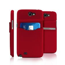 Leather Hard Pocket Credit Card Holder Case For Samsung Galaxy Note 2