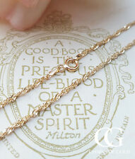 "Solid 9ct Yellow Gold Prince of Wales Chain Necklace 18"" & 24"" GIFT BOXED"