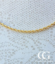 "Fine 9ct Yellow Gold 2.5mm Rope Chain Necklace 16"" 18"" 20"" 22"" 24"" GIFT BOXED"