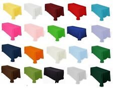 """Tablecloths 90""""x132"""" Rectangle Polyester 6ft Table Cover MADE USA Catering Party"""