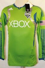 NWT ADIDAS AUTHENTIC SOCCER SEATTLE SOUNDERS L/S JERSEY  SIZE S M L XL 2XL $120