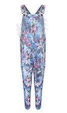 Womens Ladies New Floral Print Jumpsuit Playsuit Dungarees Summer Full Size 8-14