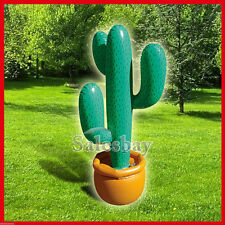1X 2X 3X Inflatable Cactus 86cm Pool Beach Party Great Western Mexican Style