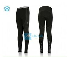 Cycling Bicycle Thermal Fleece Long Pants Tights Gel Padded Cushion Winter Mens