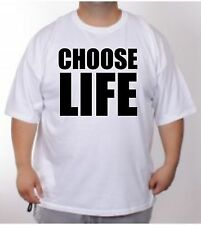 Choose Life t-shirt new UK shop 9 colours  to 5 XL huge 80s fancy dress retro
