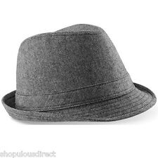 Trilby Hat with Band Stylish Fedora Style Rat Pack Fancy Dress Smart Mens Ladies