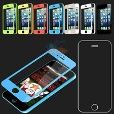 Colored Real Tempered Glass Screen Protector Film Guard for Apple iPhone 5/5S/5C