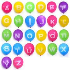 10pcs  letters Print Birthday Wedding Party Decor Latex Balloons Mix Color 12""
