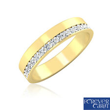 0.26Ct Certified Natural & Real Diamond Band Ring 14k Hallmarked Gold Jewellery
