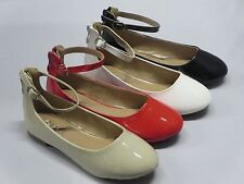 Girl Flats w/Ankle Strap (gloria57) Youth Flower Pageant Blacks Red Beige Whites