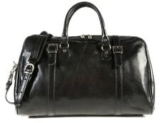 Alberto Bellucci Italian Leather Travel Duffel Bag with Removeable Strap