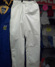 Men's White Work Trousers *B Grade* – Many Sizes Available