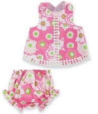 Mud Pie Baby Girl Lily Pad Pinafore Swing Top & Bloomer Set 0-18 Months NWT