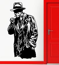 Wall Stickers Vinyl Decal Retro Gangster Gunman Killer Smoking Cigar  (z2295)