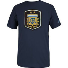 adidas Argentina World Cup WC 2014 Soccer Federation Badge Fan Shirt New Navy