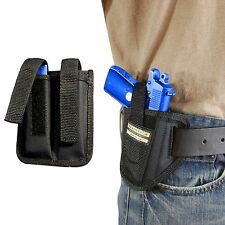 New Barsony Ambi Pancake Holster + Dbl Mag Pouch Colt 380 Ultra Comp 9mm 40 45