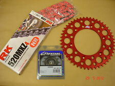 Renthal/RK Red Chain And Sprocket Kit CR CRF 125/250/450/500 R X Motocross