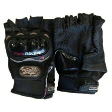 NEW MOTORCYCLE PRO-BIKER CARBON FIBER RACING PROTECTIVE FINGERLESS GLOVES - D69