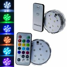 Multicolor 10 Led Submersible Party Light Base With Remote Control Waterproof