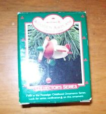 HALLMARK KEEPSAKE CHRISTMAS ORNAMENT WOODEN AIRPLANE 1988 USED WITH BOX