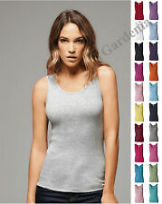 Bella 4000 Ladies' 2x1 Rib Tank Top S-2XL  Women's Sleeveless 100% Cotton, Multi
