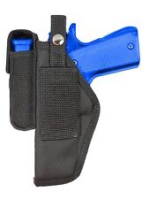 New Barsony Gun Belt Loop Holster w/ Mag Pouch CZ EAA FEG Full Size 9mm 40 45