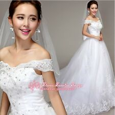 FS069 White wedding dress Formal Dress Bride Dress lace Ball Gown dress Gift