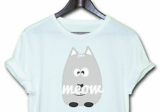 Meow Cat T TEE HIPSTER INDIE SWAG FUNNY SHIRT TOP CLOTHING MEN'S WOMEN'S