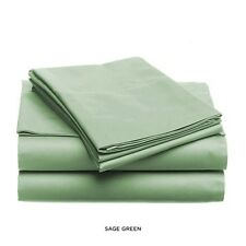 LUXURIOUS SOFT & LIGHT SOLID COLOR BED SHEET SET, KING QUEEN FULL TWIN, SAGE
