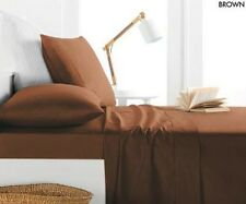 ALLURE SATIN COLLECTION 800 THREAD 4PC SHEET SET, FULL KING QUEEN, BROWN