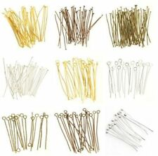 Wholesale 100pcs Silver Golden Head/Eye/Ball Pins Finding 21 Gauge Many Size