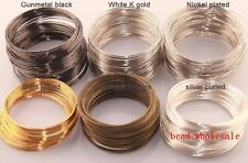 Wholesale 100/500loop Plated Memory Steel Wire For Cuff Bangle Bracelet 0.6mm