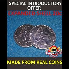 20 CENT AUSTRALIAN EXPANDED COIN SHELL /  MADE FROM REAL COINS! PREMIUM QUALITY!