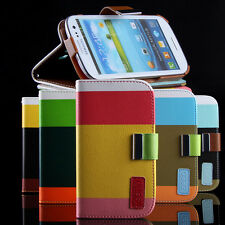 Color Wallet Pocket PU Leather Case Cover Shock Proof Flip For iPhone 4 4S