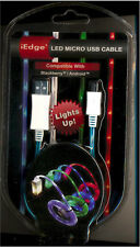 IEDGE 3' LED MICRO USB 2.0 CABLE E-230 FOR ANDROID AND BLACKBERRY PHONES