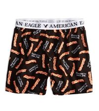 Mens AE Bacon Boxer L large black American Eagle AEO classic fit relaxed AEO NWT
