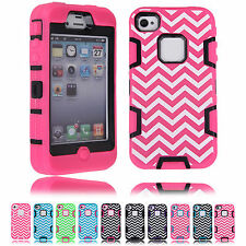 New CHEAPEST 1 Hybrid Silicone Protective Case Back Cover For Apple iPhone 4/4S