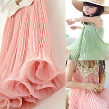 Kids Baby Girl Chiffon Princess Party Dress Sleeveless TuTu Dress Pleadted Skirt