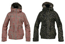 New Womens Burton Plush Insulated Snowboard Ski Jacket Coat Black Safari XS S M