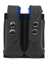 NEW Barsony Black Leather Double Magazine Pouch Norinco Kimber Full Size 9mm 40