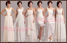 FS099 Newest 6 Styles Evening Prom Party Dress Bridesmaid Dresses Ball Gown Gift