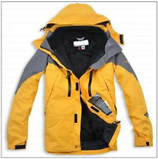 Fashion Men's Coat 2 Layer Fleece Outerwear Winter Warm Snow Hooded Jacket