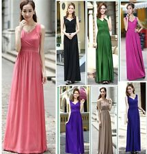 Long Evening Formal Party Ball Gown Prom Bridesmaid Maxi Dress Incl Plus sizes