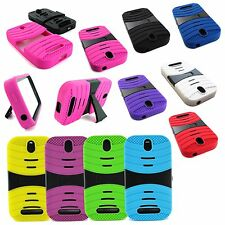 EXO RUGGED HYBRID HARD SILICONE CASE STAND COVER FOR HTC ONE SV LTE