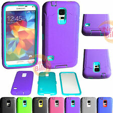 Samsung Galaxy S5  Shock proof Rugged Rubber Impact Hard Hybrid Case w/Screen