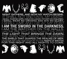 Game of 'The Night's Watch Oath' Thrones t-shirt