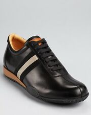 Bally Mens Freenew Black  Lace-Up Casual Leather Sneakers Shoes Kicks