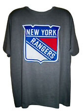 New York Rangers Majestic Over Sized Primary Logo T-Shirt