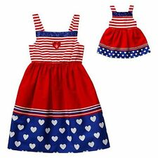 Dollie & Me Girls 4-14 and Doll Matching Patriotic Dress Clothes American Girl
